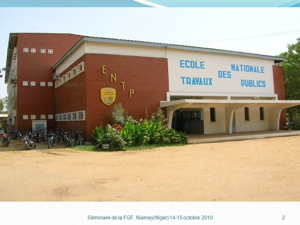 Séminaire de la FGF, Niamey(Niger) 14-15 octobre 20102
