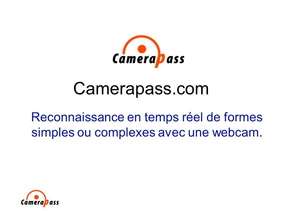 Camerapass.com Reconnaissance en temps réel de formes simples ou complexes avec une webcam.