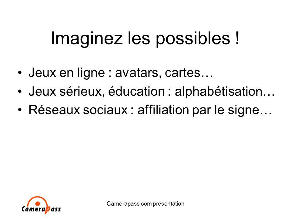 Camerapass.com présentation Imaginez les possibles .