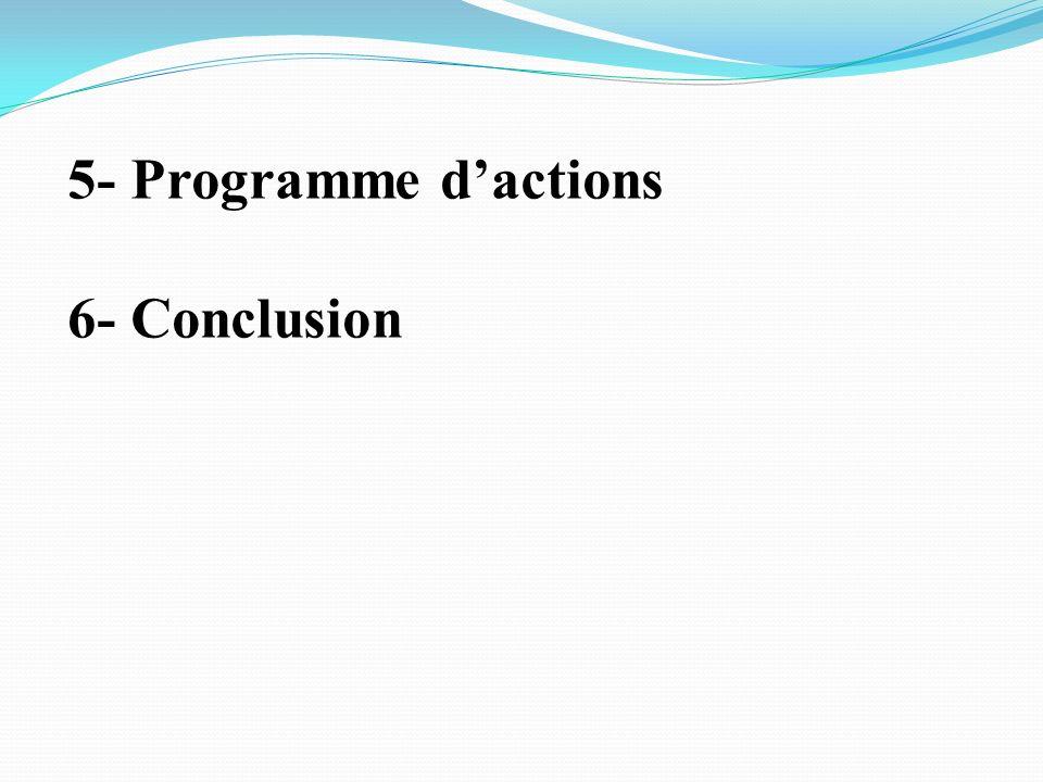 5- Programme dactions 6- Conclusion