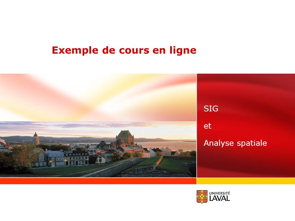 Exemple de cours en ligne SIG et Analyse spatiale