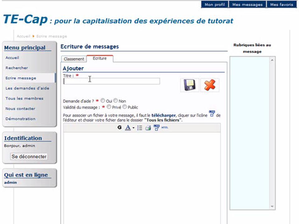 http://liesp.insa-lyon.fr/members/garrot/25/38 Plate-forme TE-Cap : classement de messages