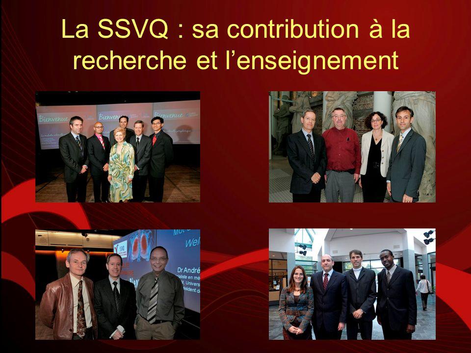 La SSVQ : sa contribution à la recherche et lenseignement