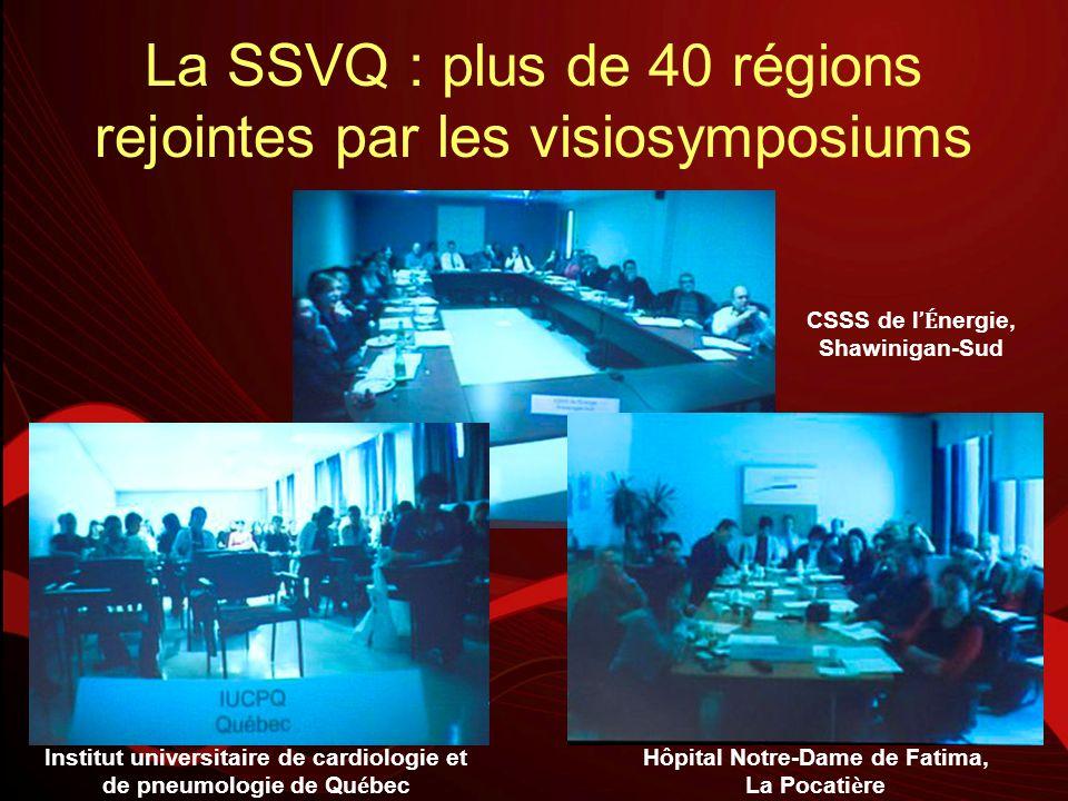 La SSVQ : plus de 40 régions rejointes par les visiosymposiums CSSS de l É nergie, Shawinigan-Sud Institut universitaire de cardiologie et de pneumolo