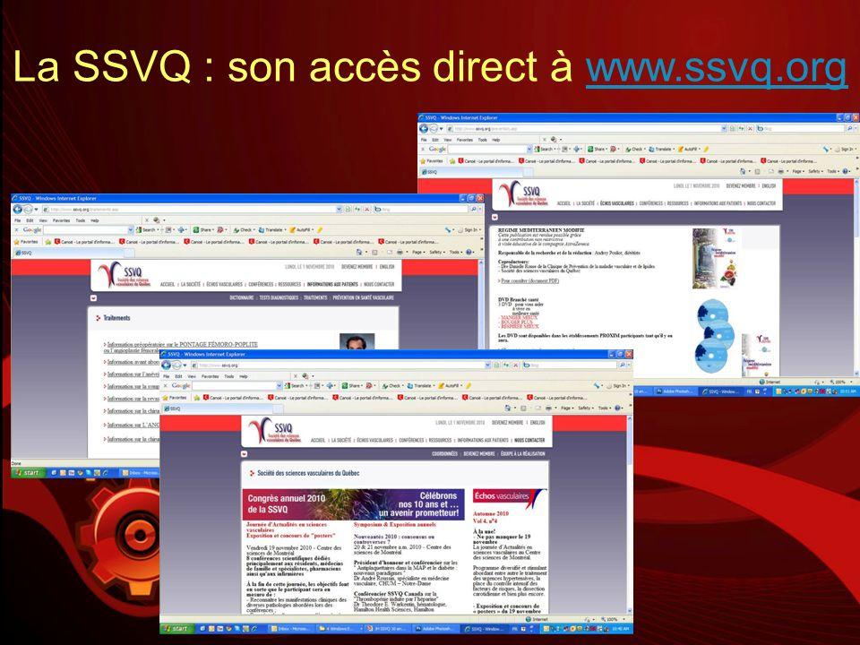 La SSVQ : son accès direct à www.ssvq.orgwww.ssvq.org