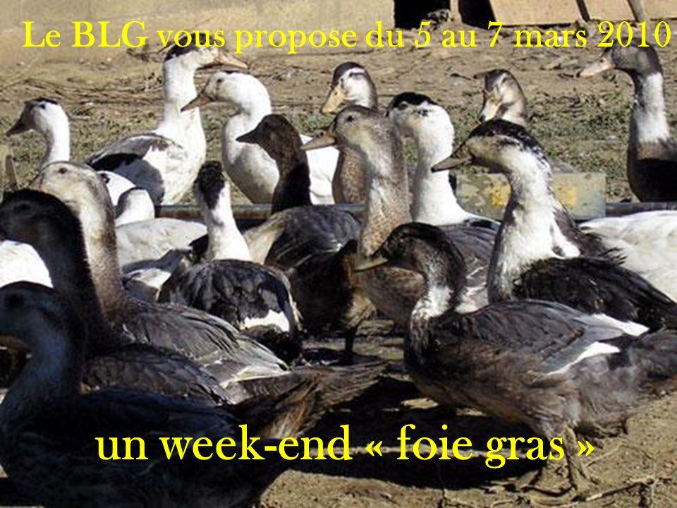 Le BLG vous propose du 5 au 7 mars 2010 un week-end « foie gras »