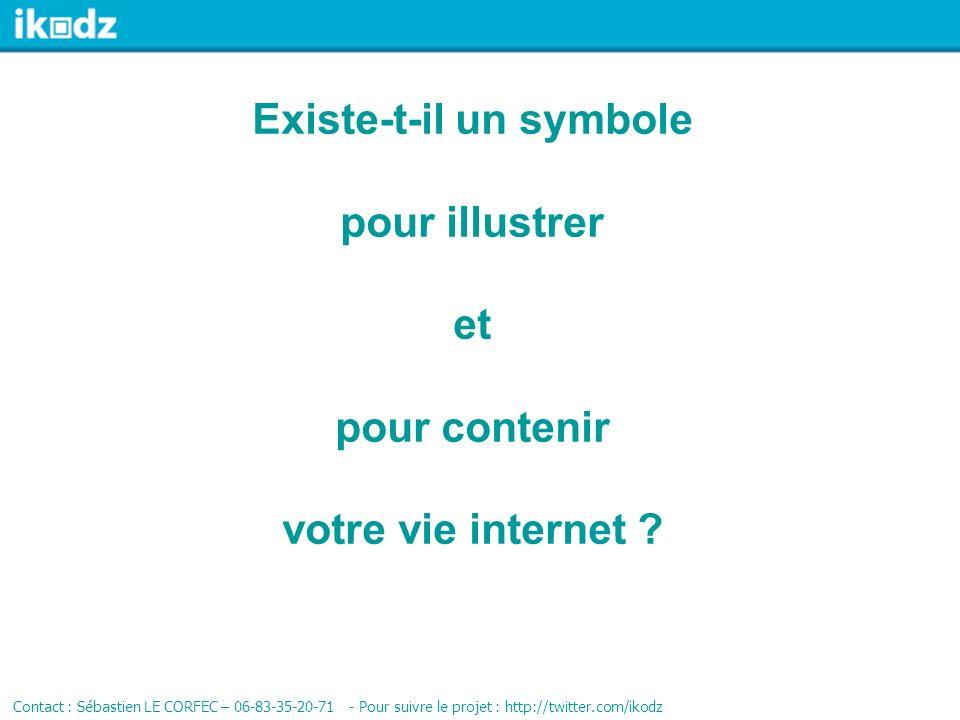 Existe-t-il un symbole pour illustrer et pour contenir votre vie internet .