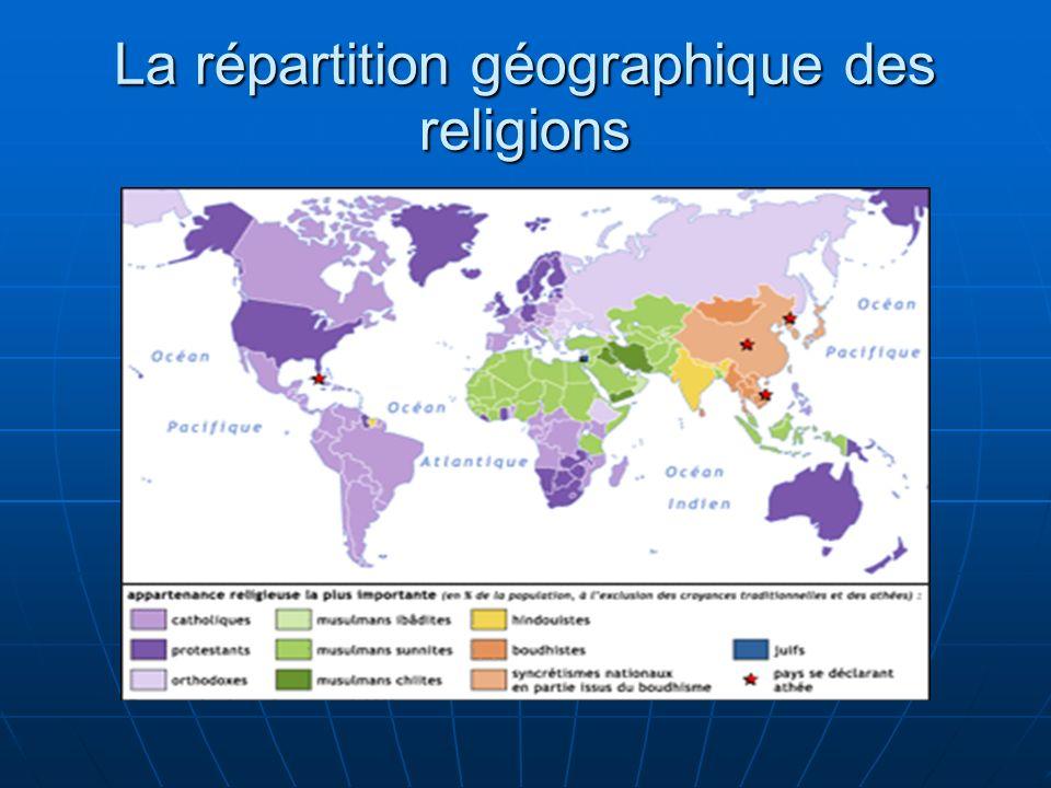 La répartition géographique des religions