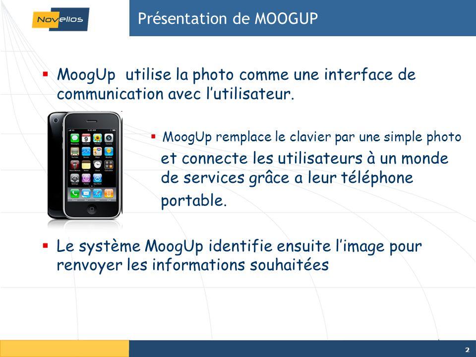 2 Présentation de MOOGUP MoogUp utilise la photo comme une interface de communication avec lutilisateur.