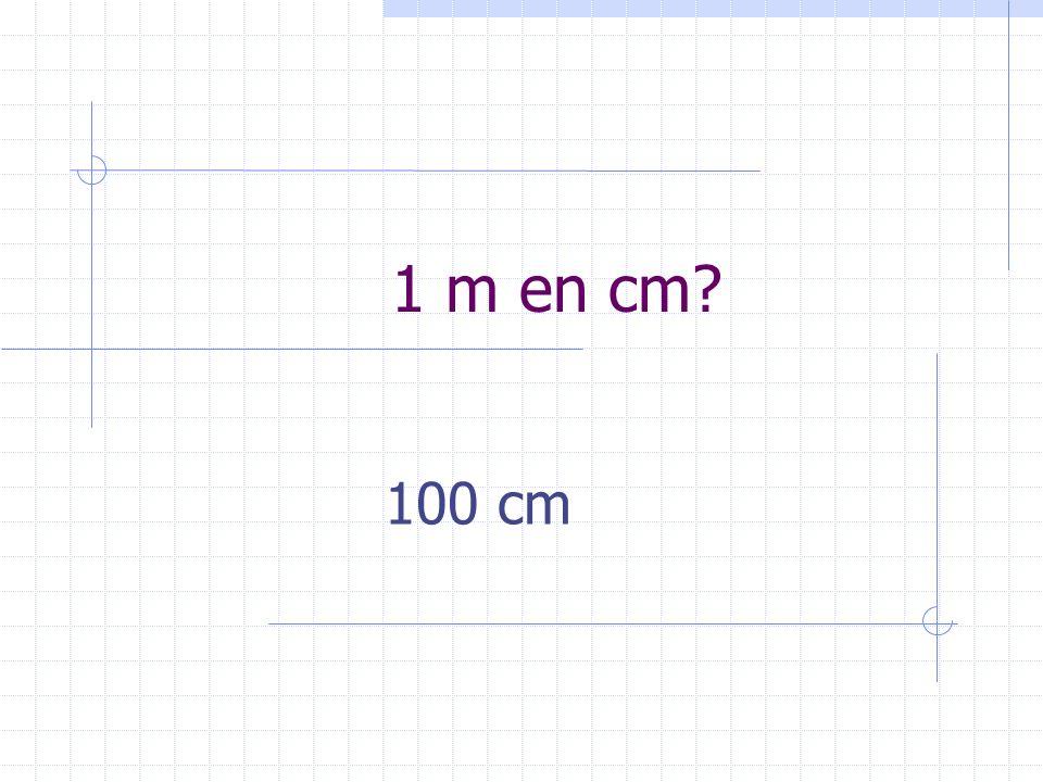 1 m en cm? 100 cm