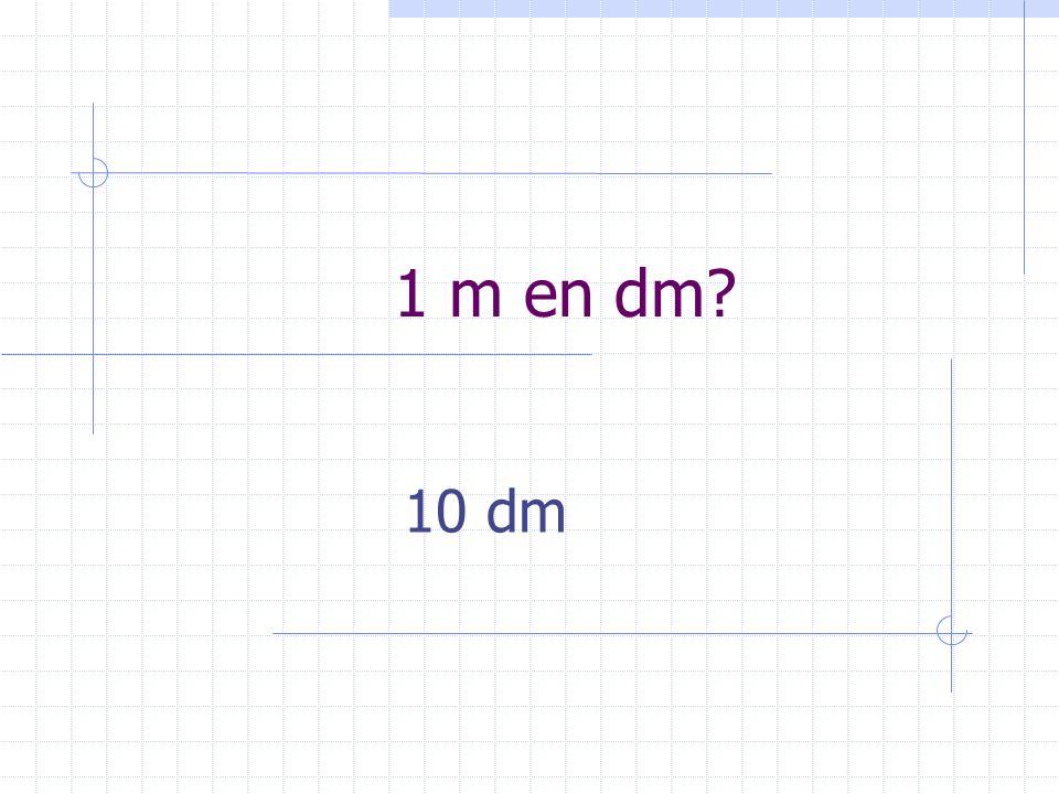 1 m en dm? 10 dm