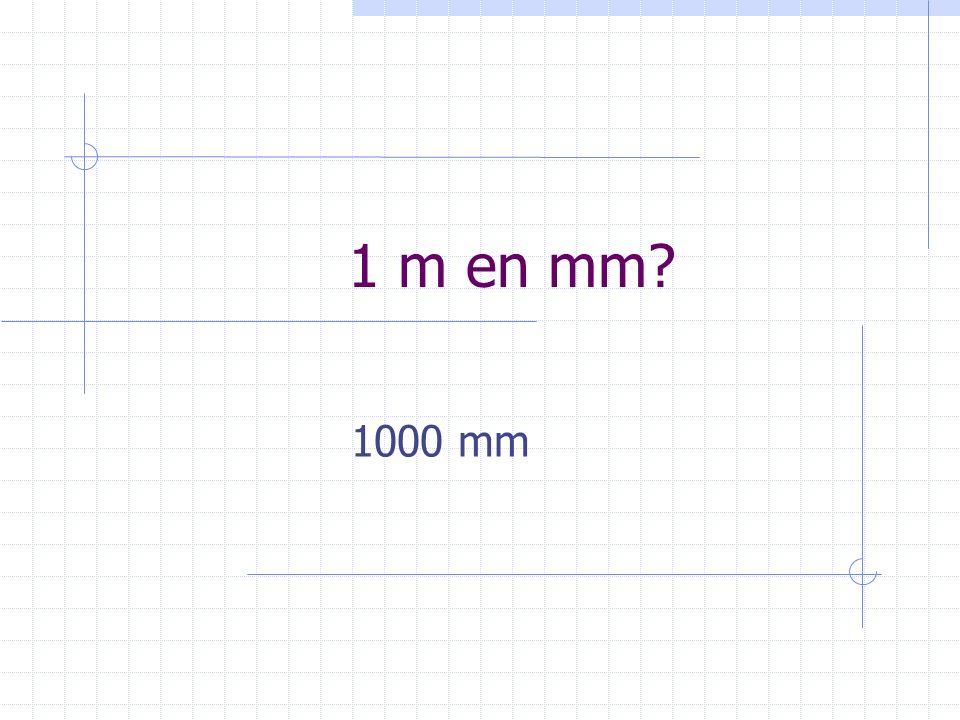 1 m en mm? 1000 mm