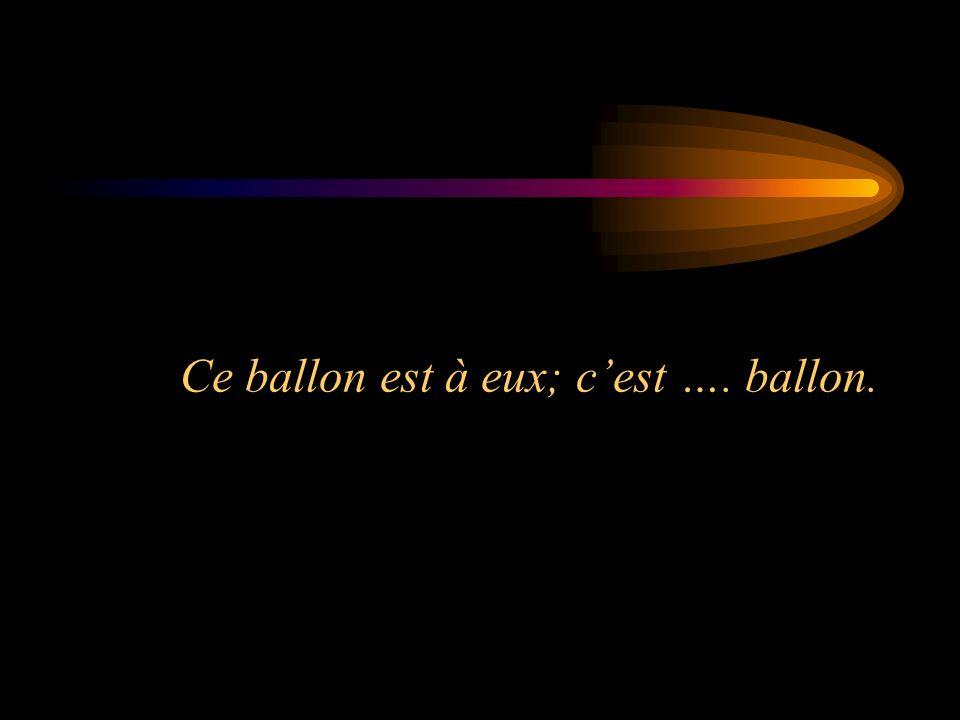 Ce ballon est à eux; cest …. ballon.