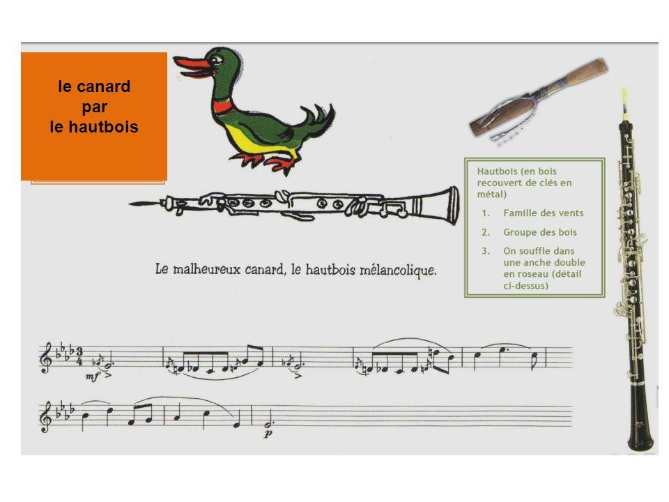 le canard par le hautbois