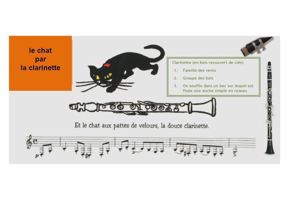 le chat par la clarinette