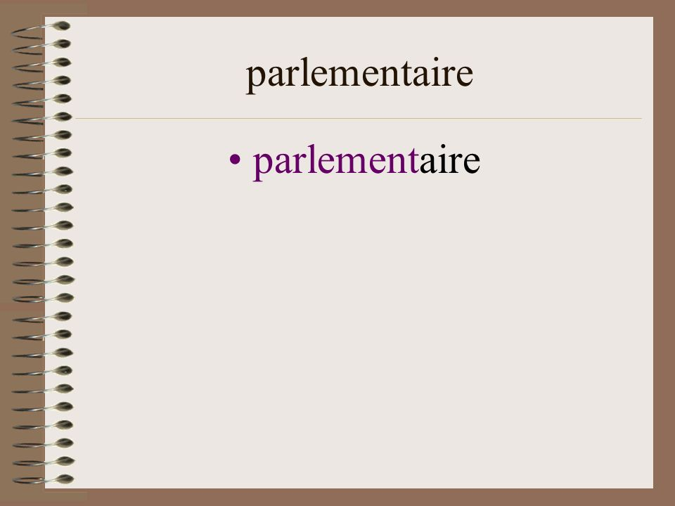 parlementaire