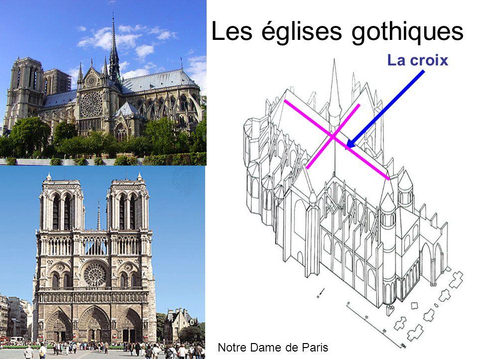 Les églises gothiques Notre Dame de Paris La croix