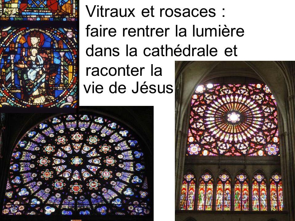 Vitraux et rosaces : faire rentrer la lumière dans la cathédrale et raconter la vie de Jésus