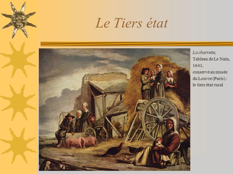 Le Tiers état La charrette, Tableau de Le Nain, 1641, conservé au musée du Louvre (Paris) : le tiers état rural
