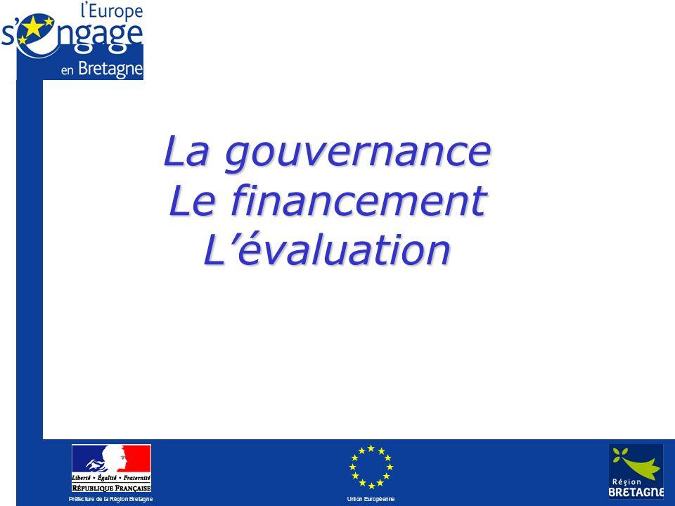 Préfecture de la Région Bretagne Union Européenne La gouvernance Le financement Lévaluation