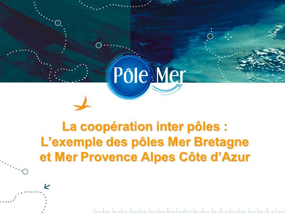 2 la coopération interpôle : Mer PACA, Mer Bretagne HISTORIQUE Appel à projets du gouvernement sur les pôles de compétitivité fin 2004.