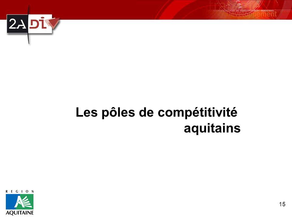 15 Les pôles de compétitivité aquitains