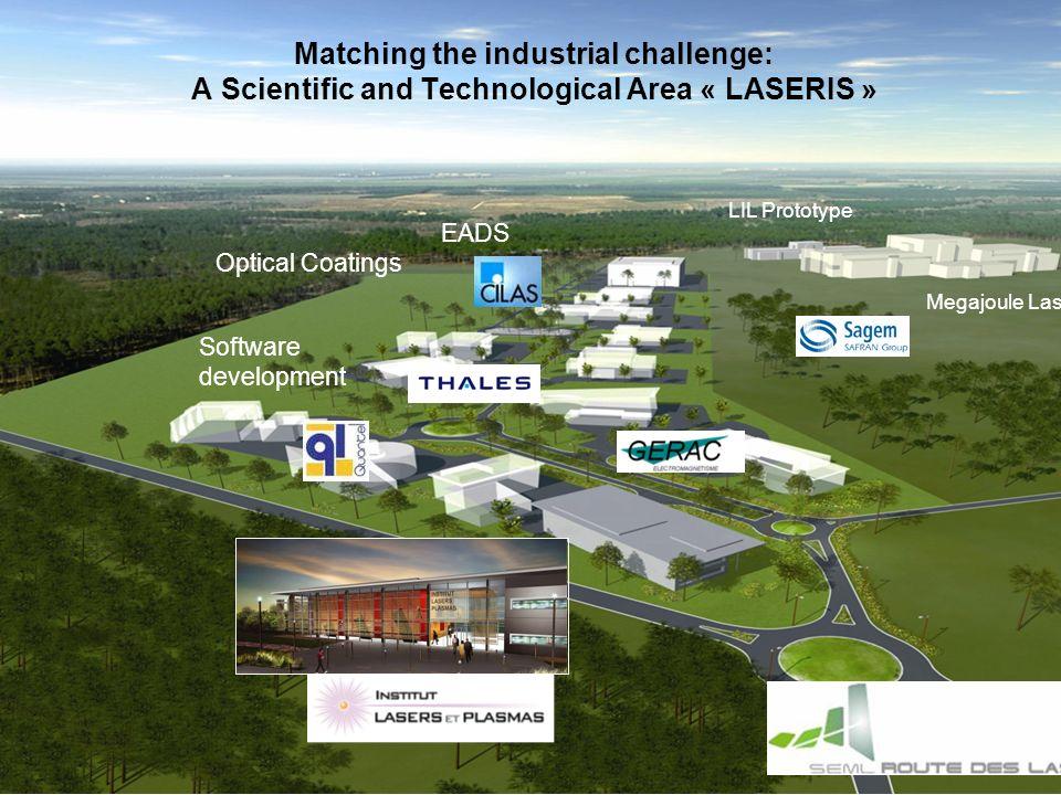 55 Centre détudes scientifiques et techniques dAquitaine (Cesta) Megajoule Laser LIL Prototype Software development Optical Coatings Matching the indu