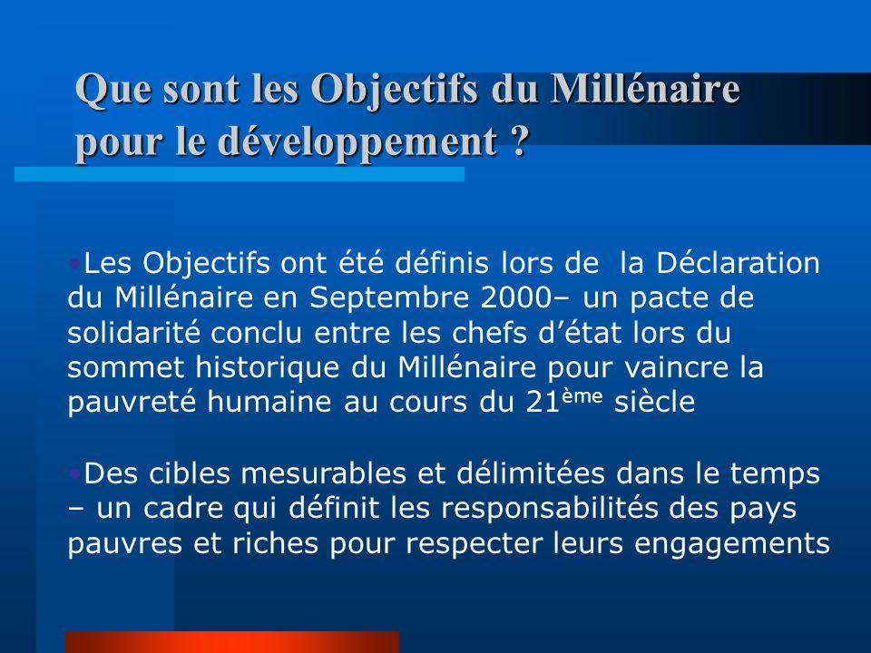 Les Objectifs du Millénaire pour le Développement en République du Congo Quels enjeux pour le pays ?