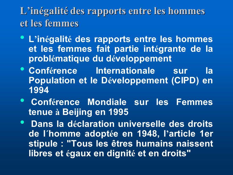 Objectif 3 : Promouvoir légalité des sexes et lautonomisation des femmes Cible 4.Éliminer les disparités entre les sexes dans les enseignements primai