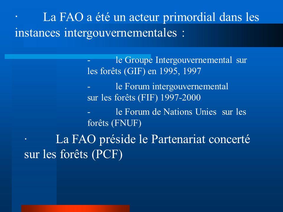 6.Améliore la collaboration et les débats régionaux et internationaux sur les politiques forestières et les aspects techniques. ·Six commissions fores