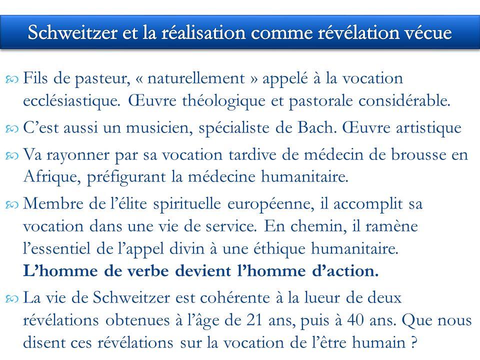 Fils de pasteur, « naturellement » appelé à la vocation ecclésiastique.