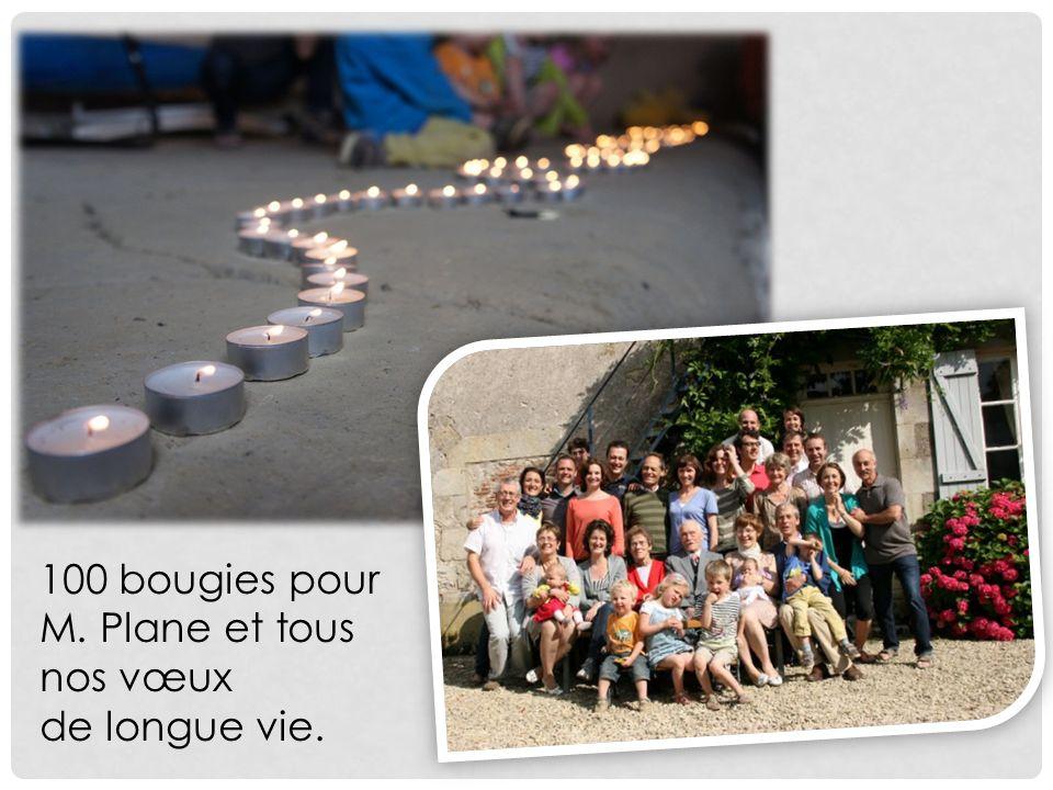 100 bougies pour M. Plane et tous nos vœux de longue vie.
