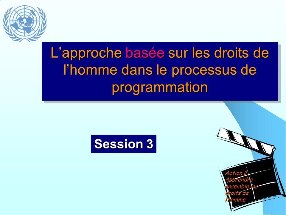 Lapproche basée sur les droits de lhomme dans le processus de programmation Session 3 Action 2 Apprendre ensemble les droits de lhomme