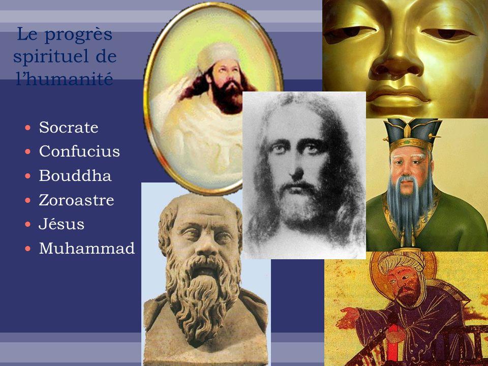 Socrate Confucius Bouddha Zoroastre Jésus Muhammad Le progrès spirituel de lhumanité