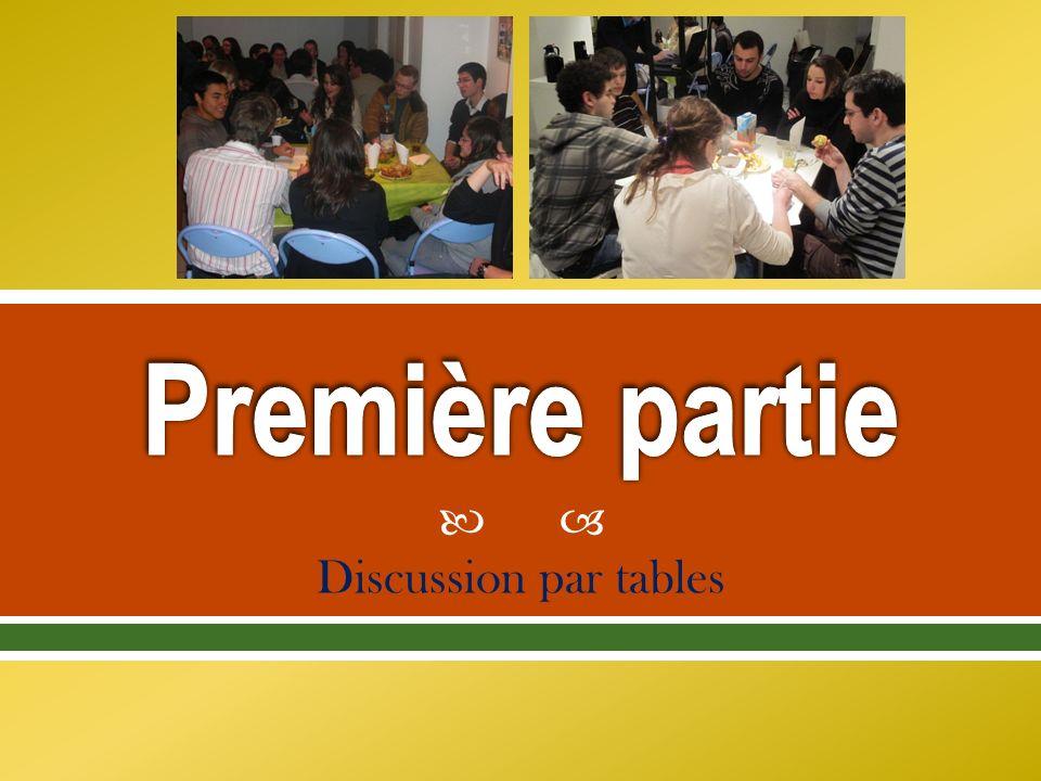 Discussion par tables