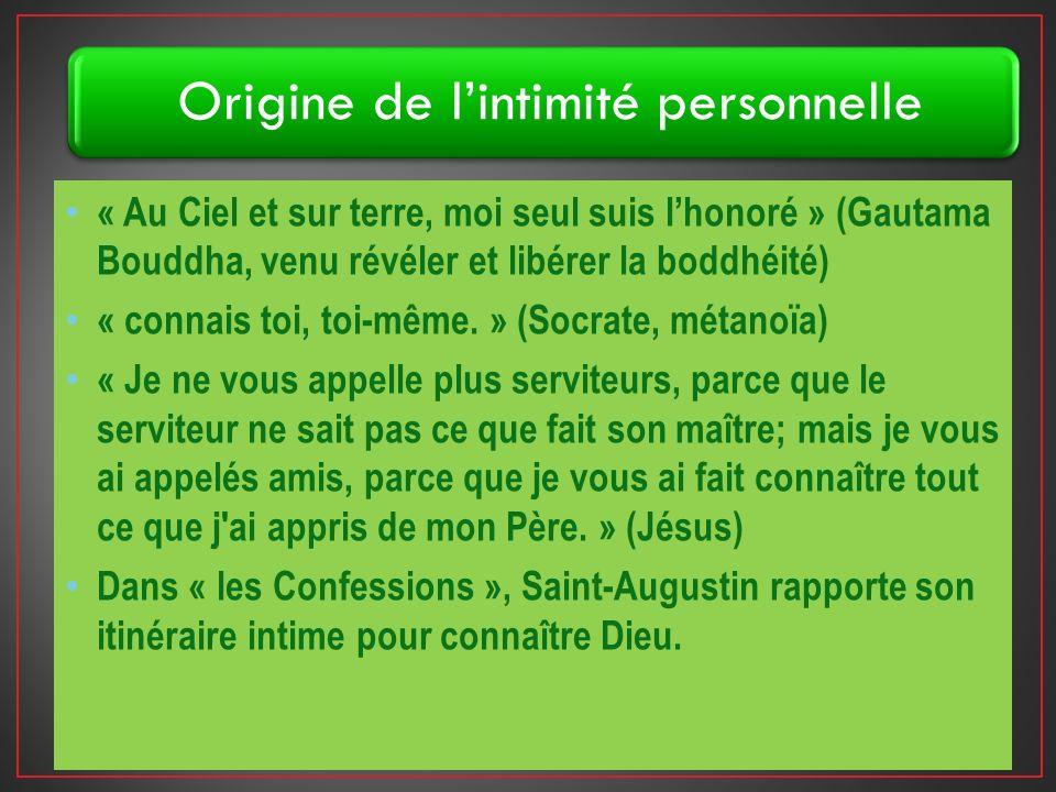 « Au Ciel et sur terre, moi seul suis lhonoré » (Gautama Bouddha, venu révéler et libérer la boddhéité) « connais toi, toi-même.