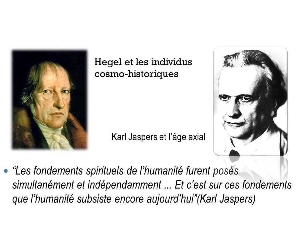 Les fondements spirituels de lhumanité furent posés simultanément et indépendamment... Et cest sur ces fondements que lhumanité subsiste encore aujour