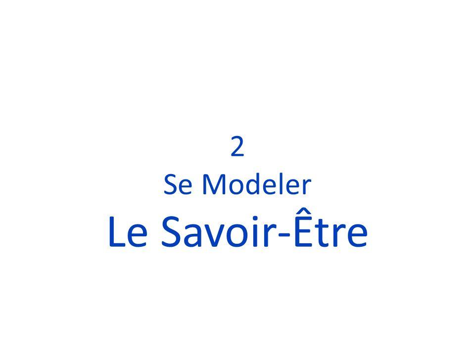2 Se Modeler Le Savoir-Être