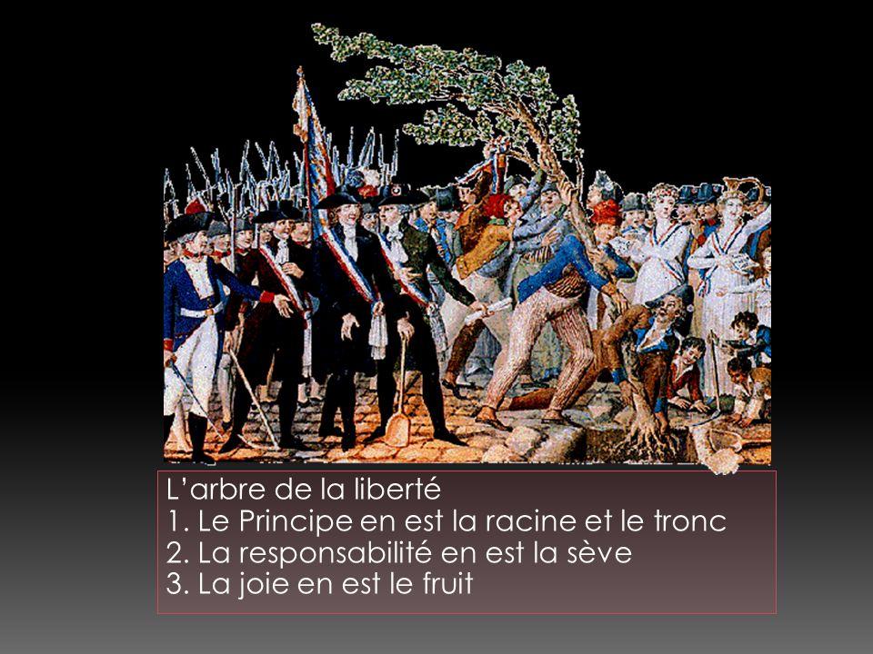 Larbre de la liberté 1. Le Principe en est la racine et le tronc 2.