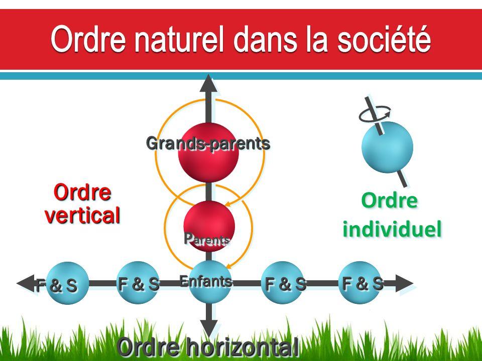 F & S Ordre horizontal F & S OrdreverticalOrdrevertical Grands-parentsGrands-parents P arents P arents EnfantsEnfants OrdreindividuelOrdreindividuel
