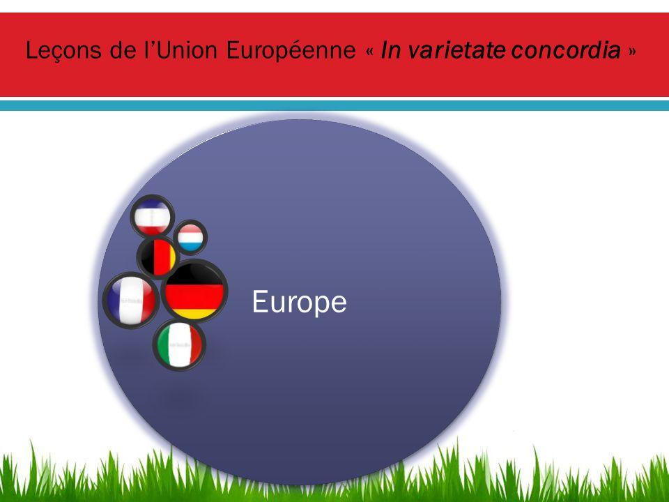Leçons de lUnion Européenne « In varietate concordia »