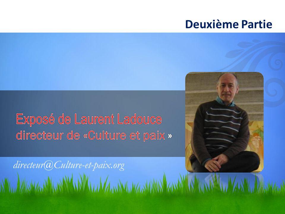 Deuxième Partie directeur@Culture-et-paix.org