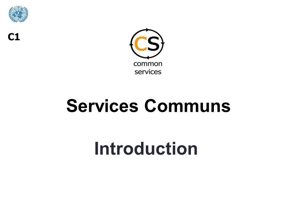 Services Communs Introduction C1