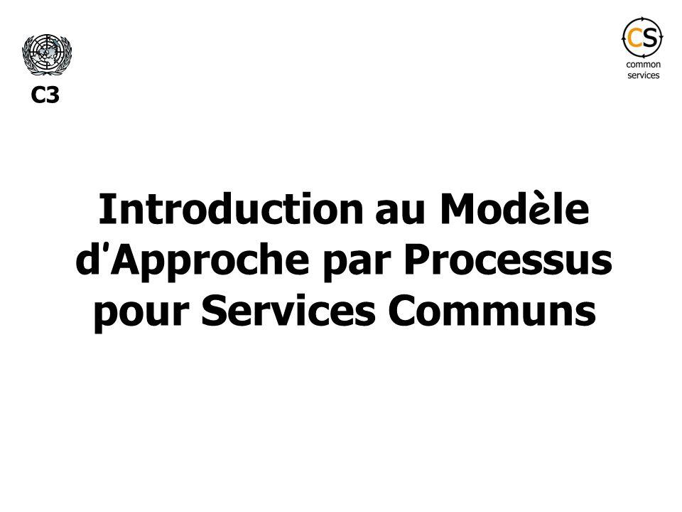 Introduction au Mod è le d Approche par Processus pour Services Communs C3