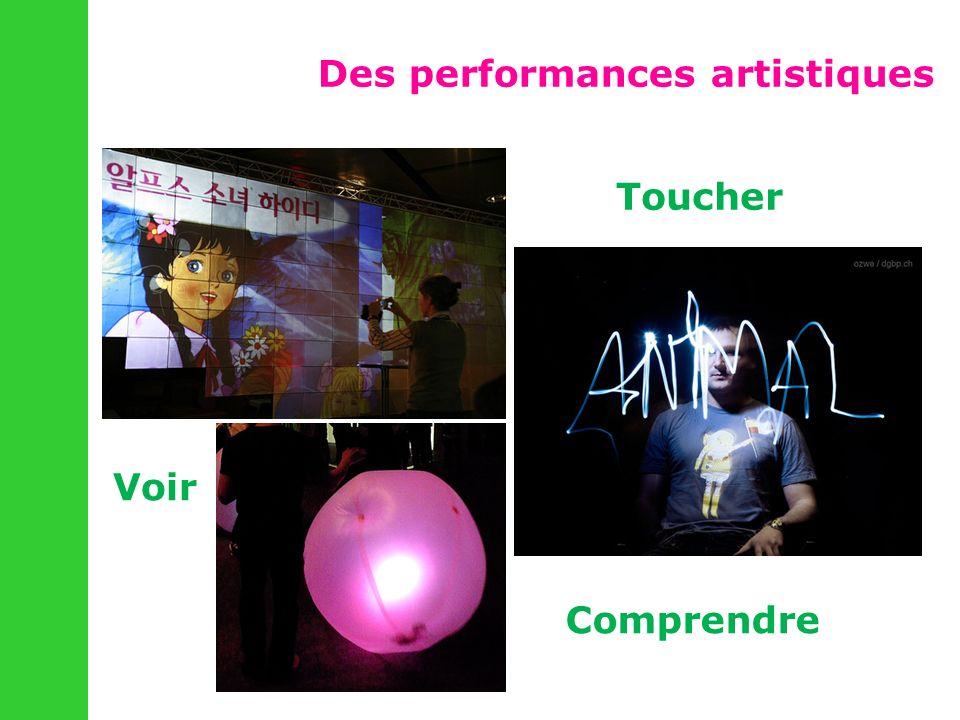 Des performances artistiques Voir Toucher Comprendre