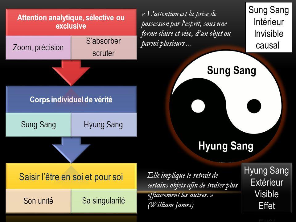 Sung Sang Hyung Sang Sung Sang Intérieur Invisible causal Saisir lêtre en soi et pour soi Son unité Sa singularité Corps individuel de vérité Sung San
