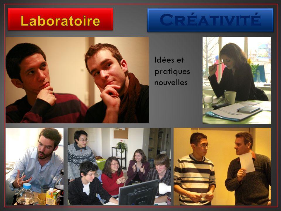 Créativité Idées et pratiques nouvelles