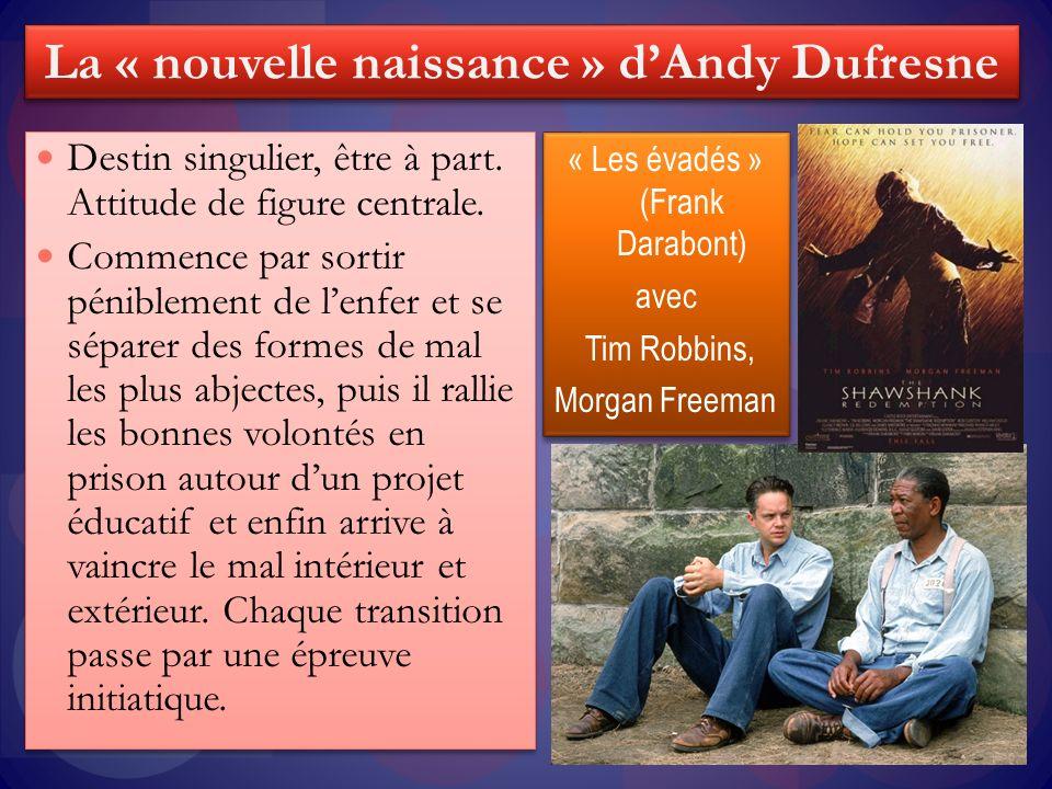« Les évadés » (Frank Darabont) avec Tim Robbins, Morgan Freeman « Les évadés » (Frank Darabont) avec Tim Robbins, Morgan Freeman Destin singulier, êt