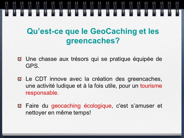 Le GeoCaching en chiffres Lancé en 2000, le geocaching compte une communauté mondiale grâce au site : www.geoacaching.com.