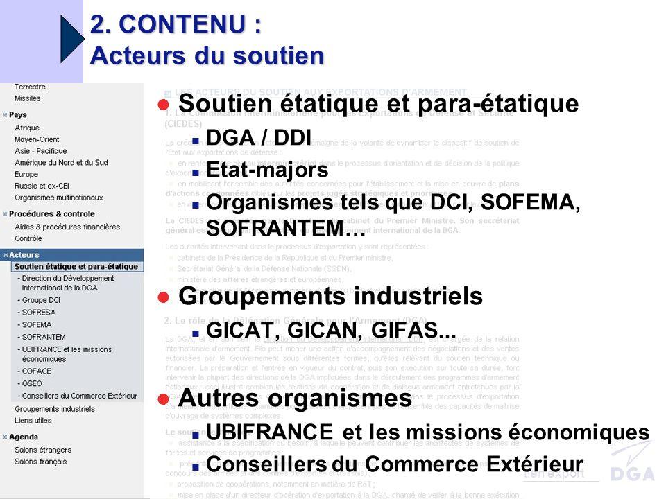DGA/DDI MINISTÈRE DE LA DÉFENSE 05/06/2008 Portail soutien export 2.